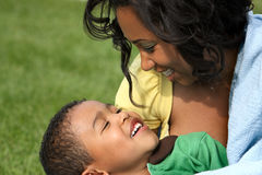 African American  Mother and Child Stock Image