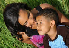 African American Mother and Child Royalty Free Stock Photos