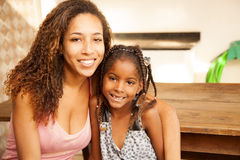 African american mother and daughter portrait Stock Images