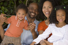 African American mother and father and their children. Royalty Free Stock Image