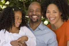 African American mother and father and their daugher. Stock Photography