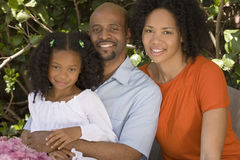 African American mother and father and their daugher. Stock Photo