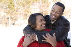 African American mother and her adult son. Royalty Free Stock Photography