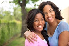 African American mother and her daugher. Royalty Free Stock Photo