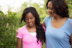 African American mother and her daugher. Happy African American mother and her daugher Royalty Free Stock Image