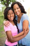 African American mother and her daugher. Happy African American mother and her daugher Stock Photos