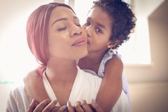 Love between mother and daughter. royalty free stock images