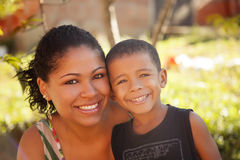 African american mother and son Royalty Free Stock Photo