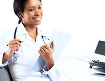 African American nurse medical doctor woman Royalty Free Stock Photos
