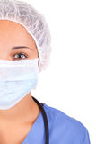African American nurse with  stethoscope Royalty Free Stock Images