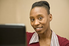 African American Office Worker Stock Image