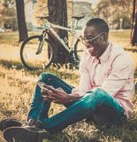 African american in a park Stock Photography