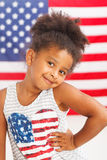 African-American patriotic girl Royalty Free Stock Images