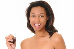 African American Perfume Girl Royalty Free Stock Photo