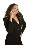 African American Phone Woman Stock Photography