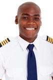 African american pilot Stock Image