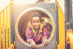 African American happy kid. Looking at camera. royalty free stock photos