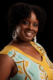 African American Plus Size Female Fashion Model Royalty Free Stock Photos