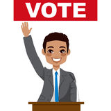 African American Politician Giving Speech Stock Image