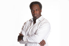 African american portrait of male boss Royalty Free Stock Images