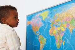African american preschool boy Royalty Free Stock Photos