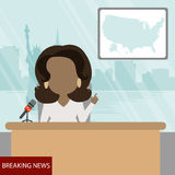 African american presenter. Royalty Free Stock Images
