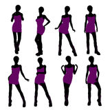 African American Punk Girl Illustration Silhouette Stock Images