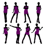 African American Punk Girl Illustration Silhouette Stock Photography