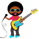 African - American Rock star. Colorful African - American rock star character Stock Photography