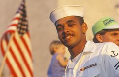 African-American Sailor, Desert Storm Victory Parade, Washington, D.C. Stock Image