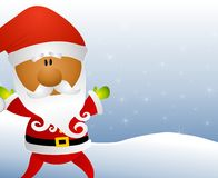 African American Santa Claus Royalty Free Stock Photos
