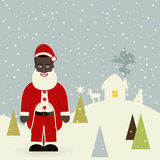 African American Santa Claus Royalty Free Stock Images