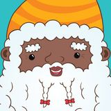 African american Santa Claus with ribbon Royalty Free Stock Images