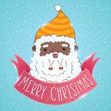 African american Santa Claus with ribbon Royalty Free Stock Photo