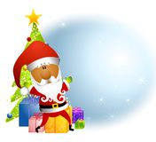 African American Santa Gifts Stock Photography