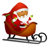 African American Santa Sleigh 2 Stock Images