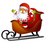 African American Santa Sleigh Royalty Free Stock Photos