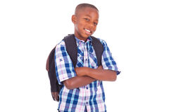African American school boy - Black people Royalty Free Stock Images