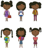 African-American School Girl Royalty Free Stock Photography