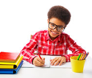 African American schoolboy Stock Photos