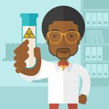 African-american scientists experimenting with Stock Photography