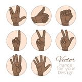 African American set of hands Stock Photography