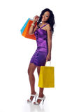 African american shopper Royalty Free Stock Photo