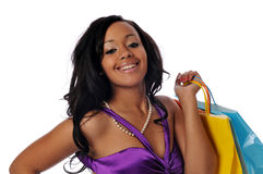 African american shopper Royalty Free Stock Photography