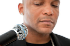African American Singer Stock Photo