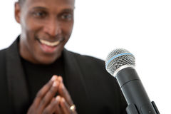 African American Singer Royalty Free Stock Photo