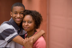 African-American single-parent family Royalty Free Stock Photos