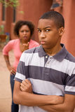 African-American single-parent family Royalty Free Stock Photo
