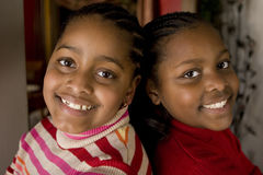 African American sisters and best friends laughing. Stock Images