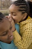 African American sisters and best friends laughing. Stock Photo